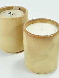 aromall® soja Bougie parfumée 250g fleur de pêcher&lumière jaune miel céramique 45hrs porte-gobelet temps de combustion