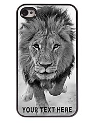 Personalized Phone Case - Wild Lions Design Metal Case for iPhone 4/4S
