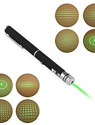 LT-012 Pen Shape 5-Patterns Green Light Laser Pointer(5Mw.532nm.2XAAA.Black)