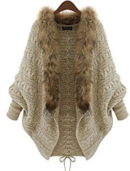 Yuwinne Women's Loose Knitting Bat Sleeve Sweater