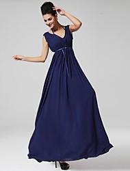 Women's Elegant Solid Color Sleeveless Full Length Dress