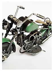Green Iron Motorcycle Color Model Handicraft Furnishing Articles (Picture Color)