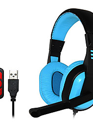 OVLENG Q11 Dynamic Stereo USB Gaming Headphones with mic for PC 7.1 Sound Effect Over-Ear