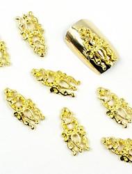 100pçs ouro 3d unha linda jóia de totem para falsos moldes de acrílico unhas decorações de arte