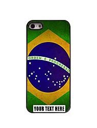 Personalized Phone Case - Brazilian Flag Design Metal Case for iPhone 5/5S