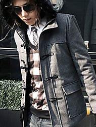 Fashion Cape Hooded Fur Collar Coat Gray