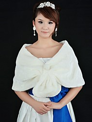 Wedding Wraps Faux Fur Warm Bridal Wedding Shawls With Pearls