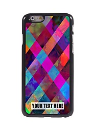 Personalized Phone Case - Colorful Lattice Design Metal Case for iPhone 6