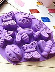 8 Hole Insect Shape Cake Mold