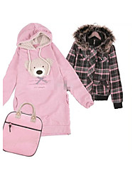 Lovely Bear Hooded Coat Pink