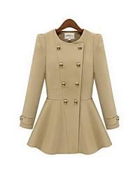 Clement Women's New European Linen Double-breasted Coat
