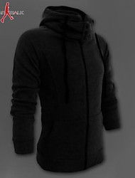 Manwan Walk® Herrenmode hohen Kragen Fleece Reißverschluss silm Hoodie