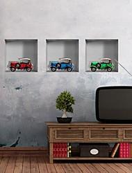 3d les murs de voiture autocollants autocollants muraux