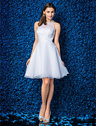 A-line/Princess Jewel Knee-length Organza Cocktail Dress (1483933)