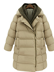 Thickening Thermal Medium-long Wadded Jacket Female Outerwear Winter Cotton-padded Jacket PeiNi