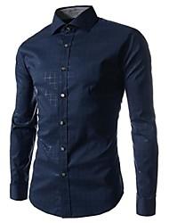 MANWAN WALK®Men's Casual Slim Fit Shirt.Plaid Design Dress Shirts.