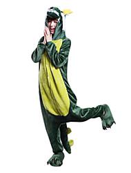 zodiaco 3d dragón franela adultos chinos kigurumi traje pijama ropa de dormir de los animales (con zapatillas)