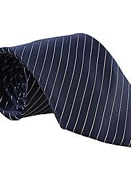 Dark Blue Striped Tie