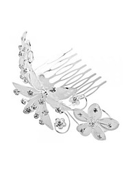 Flower Silver Plated Crystal Bridal Wedding Hair Comb HOT