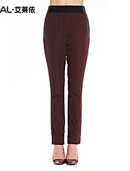 Women's Bodycon/Plus Sizes Pants Inelastic Blue/Red/Black