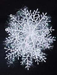 15см Рождество украшен снежными 6шт