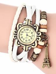 Мулан женская башня кулон кожаный ремешок кварцевые часы (разных цветов)