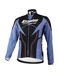 KOOPLUS Unisex Winter Cycling Clothing Long Sleeve Thermal Fleece Cycling Jersey--Black+Purple