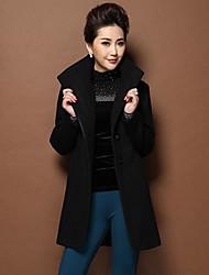 fino casaco de tweed de trincheira das mulheres