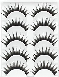 New 5 Pairs European Fiber Natural Black Long Thick False Eyelashes Eyelash Eye Lashes for Eye Extensions
