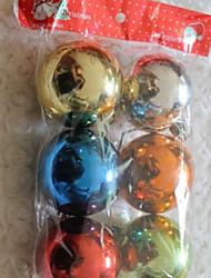 Colorful Six Christmas Balls Design for Christmas