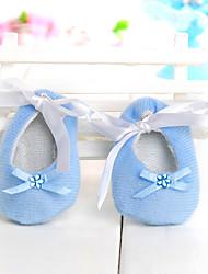 favores do casamento do design de decoração sapatos de bebê (conjunto de 6)
