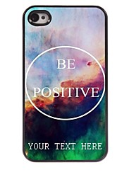 Personalized Phone Case - Be Positive Design Metal Case for iPhone 4/4S