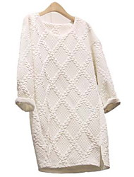 JNSY Women's Long Sleeve Slim Fashion Round Collar Knitwear Dresses