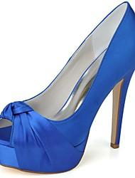 Women's Wedding Shoes Heels/Peep Toe Heels Wedding/Party & Evening Black/Blue/Pink/Purple/Red/Ivory/White/Silver