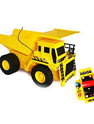 Goldlok 2803-07 Medium Size RC Car Electric Remote Control Mechanical Engineering Dump Truck Toy Car with Light Sound