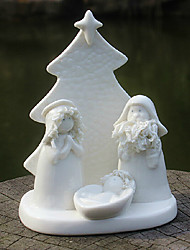 Christmas Tree Manger Ornaments ,Ceramic