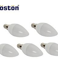 3W E14 Ampoules Bougies LED 15 SMD 2835 280 lm Blanc Chaud AC 100-240 V 5 pièces