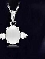 925 Silver Angel Opal Pendants