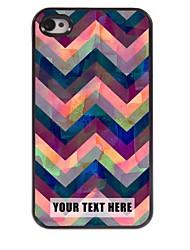 personalizzato del telefono caso - caso di disegno del metallo ondulazione per il iphone 4 / 4s