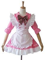 media manga vestido lolita cosplay corta rosada de limpieza de algodón