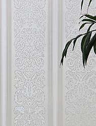 Ретро страна элегантный белый цветочный оконная пленка - 0,5 × 5 м (1,64 × 16,4 м)