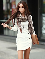 Korean New Long Sleeve Fitted Dress