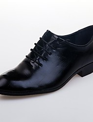 Men's Shoes Wedding/Office & Career/Casual/Party & Evening Leather Oxfords Black/Brown/White