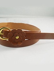 Women's Flower Design Decorative Belts