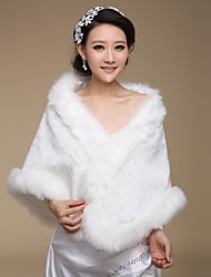 Fur Wraps / Wedding  Wraps Shawls Faux Fur Ivory Wedding / Party/Evening