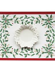 Christmas Mistletoe Polyester Cotton Placemat,35.5*48cm(14.2*19inch)
