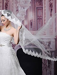 Wedding Veil One-tier Chapel Veils Lace Applique Edge 78.74 in (200cm) Lace