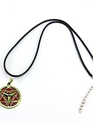 Naruto Sasuke Eternal Mangekyō Sharingan Alloy Pendant Cosplay Necklace