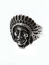 Fashionable Portrait Men's Ring