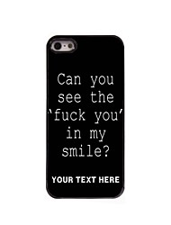 Personalized Phone Case - Fuck Letter Design Metal Case for iPhone 5/5S